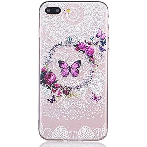 Pacyer® Custodia iPhone 7 Plus Transparente con ananas Case Ultra Thin Soft Bumper TPU Cover Per iPhone 7 Plus (3)