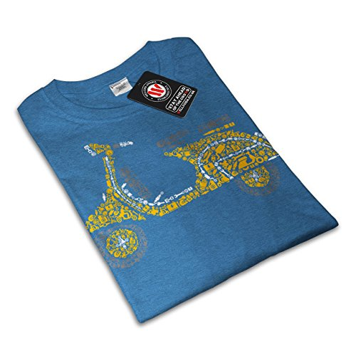 Motorrad Roller Motorradfahrer Damen S-2XL T-shirt | Wellcoda Royal Blue