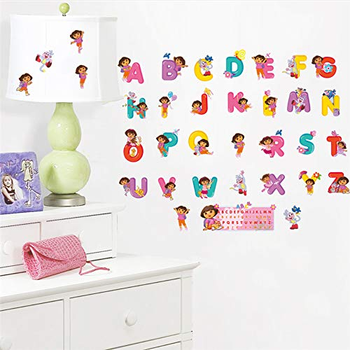 Meaosy Dora The Explorer Alphabet Buchstaben Wandaufkleber Kinderzimmer Dekoration Diy Nursey Wandbild Kunst Home Decals Kinder Geschenk (Dora The Explorer Halloween)