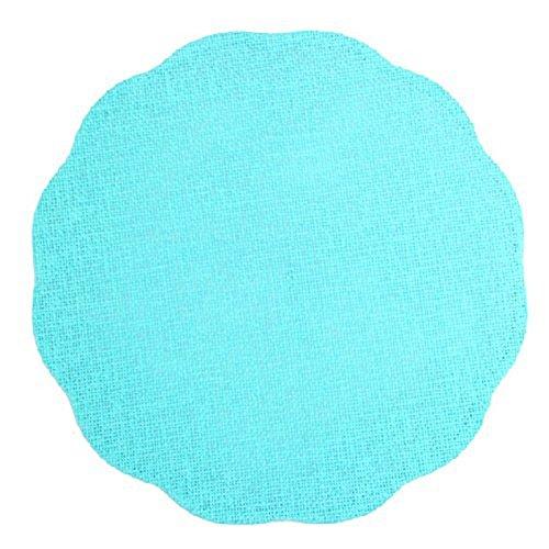 Couleur Montagne Set de Table 100% Fibre de Papier - Diamètre 38 cm - Turquoise