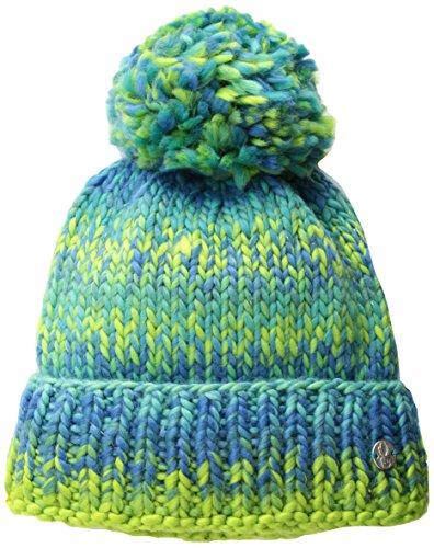 Spyder Fleece Beanie (Spyder Bitsy Twisty Hat, Mädchen, Baltic/French Blue/Fresh, Einheitsgröße)