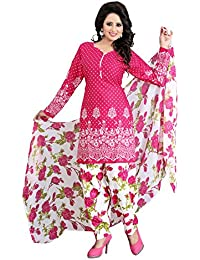 659a5d323b62 Ramdev Women s Printed unstitched Pink Dress material