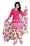 #6: Rhythm Women'S Crepe Dress Material Dress Material (Dress Material For Womens_Pink_Free Size)