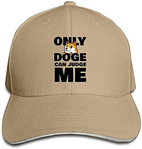 angwenkuanku Baseball Caps Doge Can Judge Me Unisex Sandwich Cap Trucker Hat Gorgeous31322