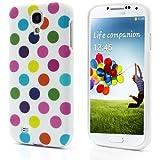 Leegoal (TM) Polka Dots TPU Case für Samsung Galaxy S4i9500–Weiß Bunte Dot