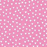 ARTEBENE Servietten - Herzchen pink 33 x 33 cm