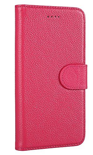 Hülle iPhone 8,VENTER®Handyhülle iPhone 8 Tasche [Schwarz] Leder Flip Case Brieftasche Etui Schutzhülle für iPhone 8 Staub