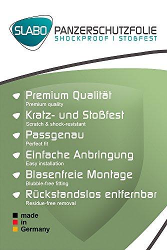 Slabo 2 x Panzerschutzfolie Alcatel Plus 12 Panzerfolie Bildschirmschutzfolie Schutzfolie Folie Shockproof KLAR - unsichtbar Made IN Germany