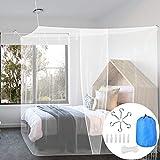 BUZIFU Moustiquaire Lit 1 Place Simple Rectangulaire Maille Fine avec Kit de...