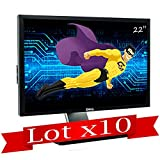 """Dell Set x10 Schermo Piatto LCD 22"""" P2210t P2210f TFT VGA DVI Display 4xUSB VESA"""