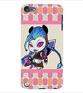 ColourCraft Cartoon Back Case Cover for APPLE IPOD TOUCH 5