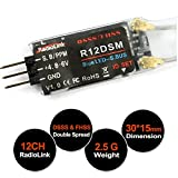 Radiolink R12DSM Mini Empfänger 12CH 2.4G DSSS&FHSS Spread Spectrum SBUS mit PPM Support RC Empfänger for AT9 AT9S AT10 AT10 II Fernsteuerung Sender for Micro FPV Racing RC Drone Quadcopter by LITEBEE