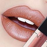 CICIYONER Damen Metall Lippenstift Lip Gloss Liquid Lippe Kosmetik, 24 Farben (01 #)