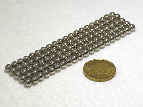 100 Neodym-Kugelmagnete 5 mm