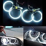 4 x 131mm CCFL Angel Eyes Standlicht Scheinwerfer Auto Halo Ring für BMW E36 E39 E46 Models 6500K