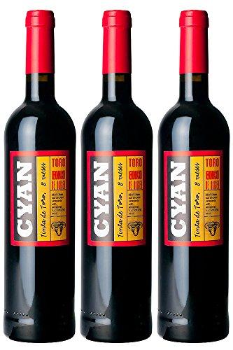 Toro Cyan Roble Vino - Recipiente De 750 Ml
