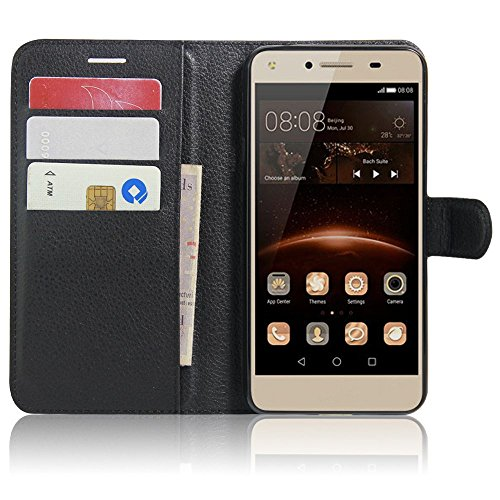 SMTR Huawei Y5II / Huawei Y5 2 Fundas de PU Cuero Flip, Standing Leather Wallet...