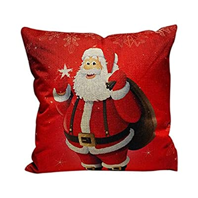 Bluester Christmas Sofa Bed Home Decoration Festival Pillow Case Cushion Cover - low-cost UK light store.