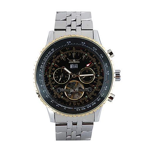 Jaragar Herren-Armbanduhr, Edelstahl, automatisch, mechanisch, Business Armbanduhr