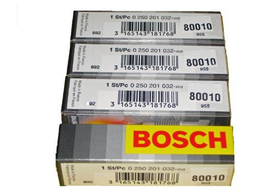 Preisvergleich Produktbild Bosch 0250201032/80010 Glühkerzen-Set, für Autos, 4 Stück