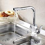 YAWEDA Wasserfilter Küchenarmatur 3-Wege-Küche-Hahn-Wannen-Mischer-Wasser-Küche Dinking Hahn Dreiweg-Wannen-Mischer-Hahn