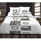 Juego de toallas 160x 200cm + 2funda de almohadas Love Nature sábana juego de tela 160x 200cm + 2funda de almohada juego de cama