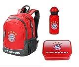 Familando FC Bayern München 3tlg. Rucksack Set mit Brotdose und Alu-Trinkflasche z.B. für den Kindergarten