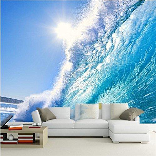 LHDLily 3D Tapete 3D Wallpaper Fresken Wandbilder Verdicken Benutzerdefinierte Das Tiefblaue Meer Wellen Surfen Größten Tv-Kulisse Foto An Der Wand 150Cmx100Cm (Größte Fernseher)