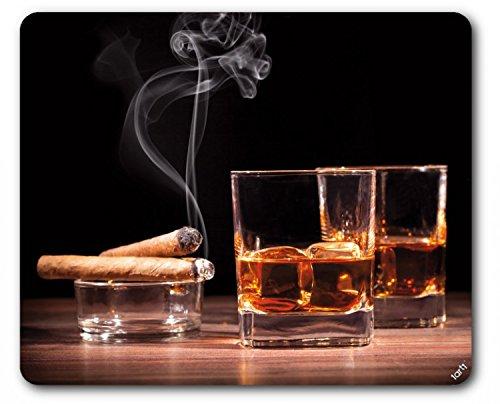 Preisvergleich Produktbild 1art1 93955 Alkoholische Getränke - Whiskey Und Zigarren Mauspad 23 x 19 cm