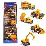 TH Mini-Bauwagen Legierung Modelle Autos Spiele Fahrzeuge für Kinder Jungen, 5er Set