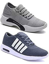 WORLD WEAR FOOTWEAR Men's Running Shoes (Set of 2 Pairs)