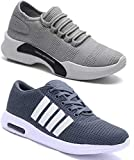 WORLD WEAR FOOTWEAR Men Multicolour Latest Collection Sports Running Shoes - Pack of 2 (Combo-(2)-9098-9064)