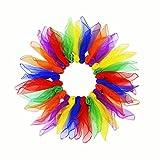 Alumuk 24 Stück Jongliertücher Tanz Tücher Jonglier Schals Gymnastiktücher für Kindergarten Kindershow Bauchtanz, 60 x 60 cm (24er Tanztücher)