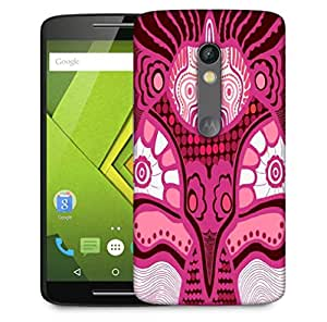 Snoogg Pink Pattern Designer Protective Phone Back Case Cover For Motorola Moto X Play