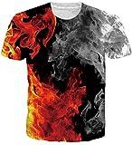 Loveternal Shirt Bunt Unisex 3D Raum Grafik T-stücke Neuheit Casual Sommer Tee Shirt L