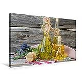Premium Textil-Leinwand 75 cm x 50 cm quer, Kräuteröle und Kräutersalz für das ganze Jahr | Wandbild, Bild auf Keilrahmen, Fertigbild auf echter Gesunde Küche (CALVENDO Lifestyle)