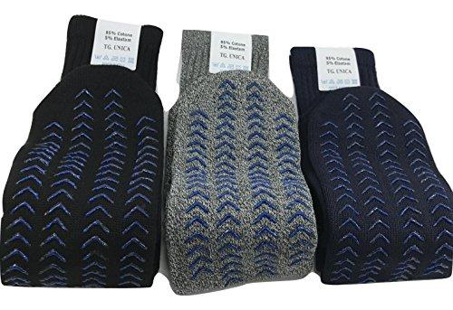 3 pares de calcetines antideslizantes para adultos talla única