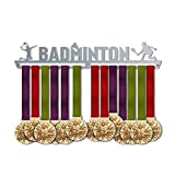 VICTORY HANGERS Badminton Medal Hanger Display | Sports Medal Holders | Stainless Steel Medal Display | by VictoryHangers - The Best Gift for Champions !