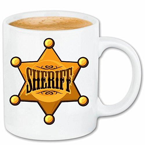 Reifen-Markt Kaffeetasse Sheriff Cowboy Western Indianer Saloon Polizei Police Indianer HÄUPTLING...