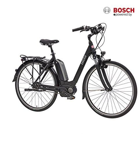 Birota 1000 8-Gang 28 Zoll Damen Pedelec mattschwarz mit Bosch Mittelmotor ohne Rücktrittbremse - RH49