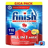 Finish All in 1 Max Pastiglie Lavastoviglie, Limone, 110 Capsule