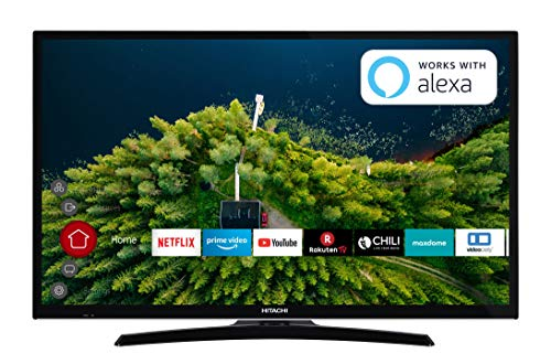 HITACHI H32E2000 81 cm (32 Zoll) Fernseher (HD Ready, Smart TV, Prime Video, Works with Alexa, Triple-Tuner, PVR)