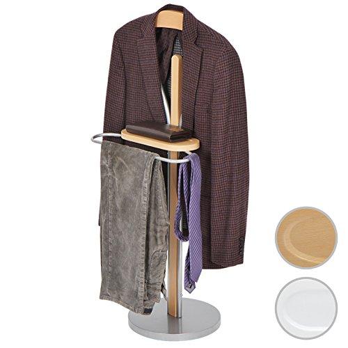 Miadomodo Praktischer Herrendiener Kleiderständer Anzugständer 108 cm hoch mit 5 kg Tragegewicht in zwei Farben