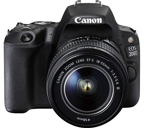 Canon EOS 200D Digitale Spiegelreflexkamera SLR Set + 18-55mm III Objektiv