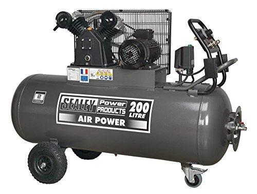 sealey-sac3203b3ph-200-l-415-v-3-ph-3-hp-compresseur-courroie-avec-panneau-de-controle-avant