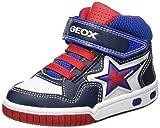 Geox Jungen JR Gregg A Hohe Sneaker, Blau (Navy/White), 29 EU