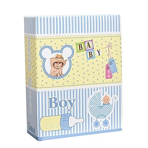 Arpan Kleine 6x4 Baby-Blau- Foto-Album -Beleg in Fall-Speicher- Album für 100 Fotos - Ideal Geschenk