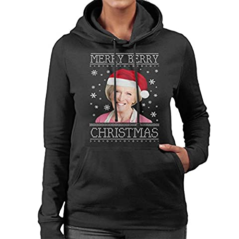 Have A Merry Berry Christmas Knit Women's Hooded