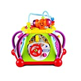 Enlarge toy image: Early Education 18 Months Olds Baby Toy Happy Small World with Music/Light/Games happy little world, baby multifunction box for Children & Kids Boys and Girls
