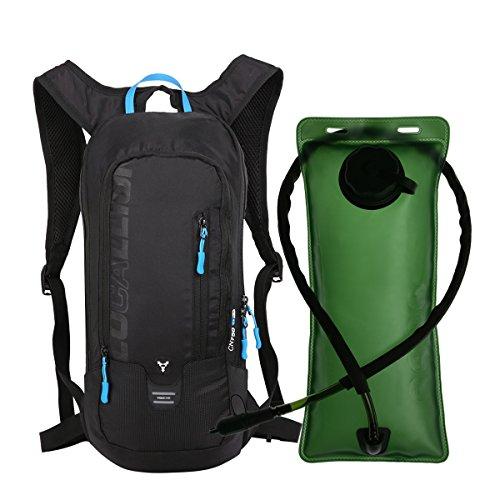 OUTDOOR LOCAL LION 10L Zaino Idratazione Ultraleggero per Alpinismo Escursionismo Zainetto per Ciclismo Backpack di campeggio Sport Outdoor Unisex per Ciclismo,Nero include il serbatoio acqua